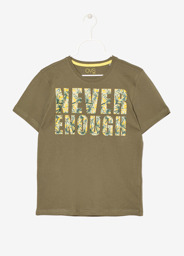 T-shirt in 100% cotton with print. | OVS