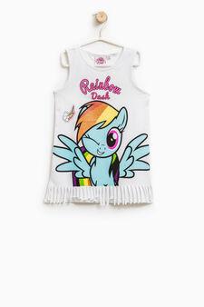 Canotta stampa pony Rainbow Dash, Bianco, hi-res