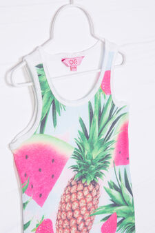 Vest top with maxi print on the front, Light Blue, hi-res