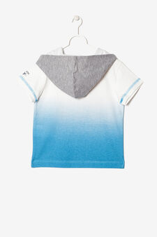 Hooded T-shirt, White/Light Blue, hi-res