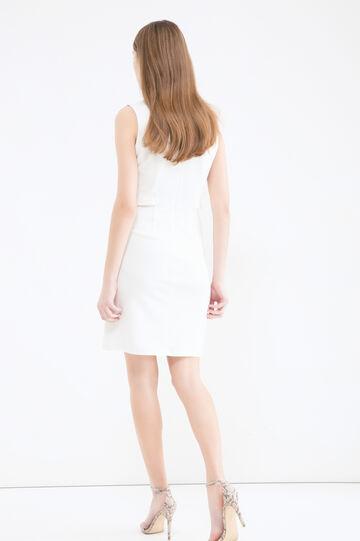 Stretch sleeveless dress, Milky White, hi-res