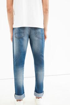 Regular fit jeans with worn effect, Medium Wash, hi-res