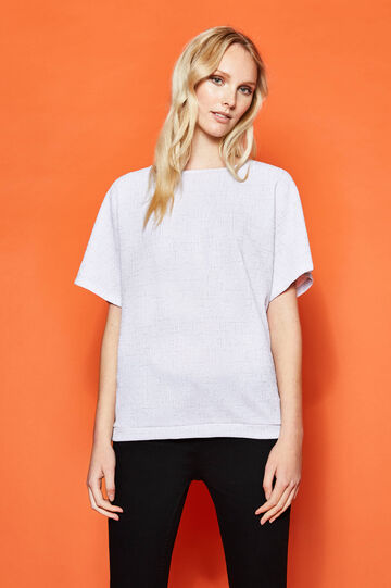 Stretch T-shirt with lurex