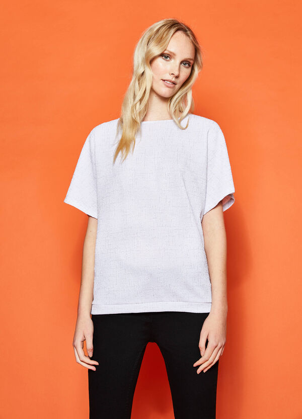 Stretch T-shirt with lurex | OVS