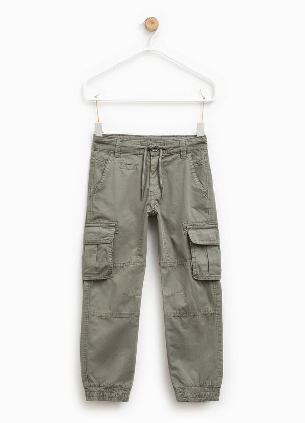 Cargo trousers with drawstring | OVS