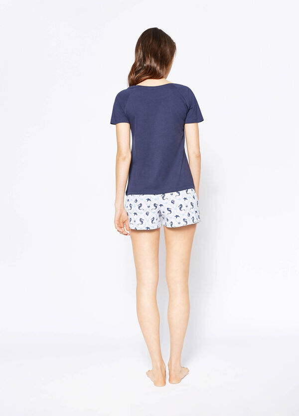 Pyjama top and shorts with print and pattern | OVS