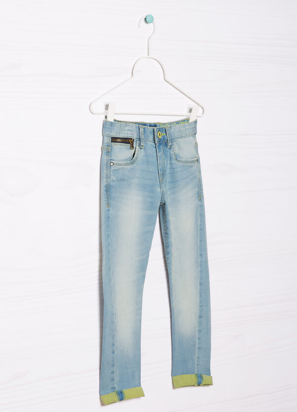 Slim fit, worn-effect jeans | OVS