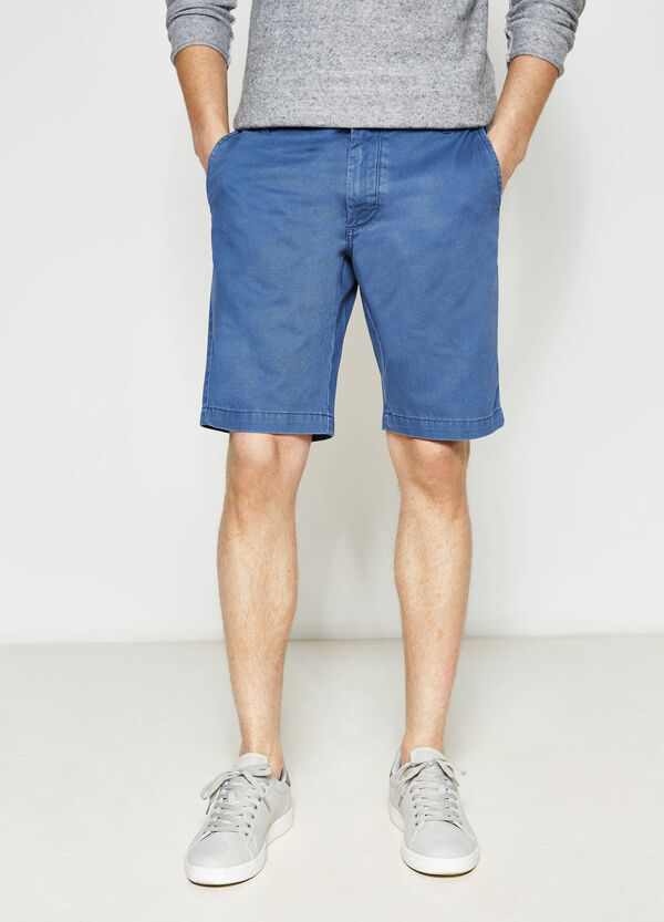 Regular-fit cotton chino Bermuda shorts | OVS