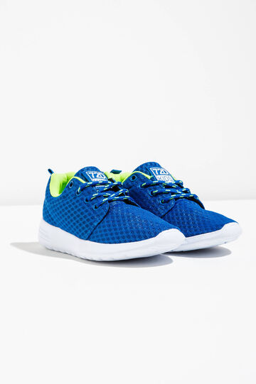 Sneakers with mesh upper, Soft Blue, hi-res