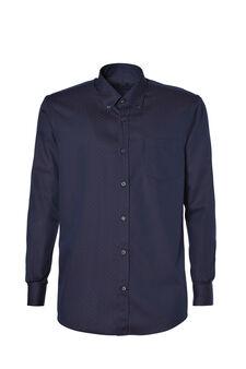Button-down, polka dot shirt, Dark Blue, hi-res