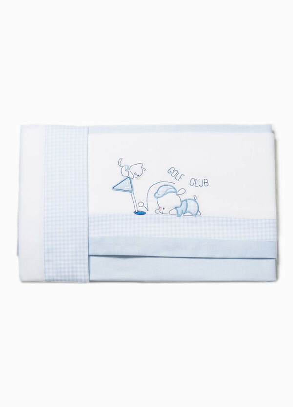Bed sheet with check trim | OVS