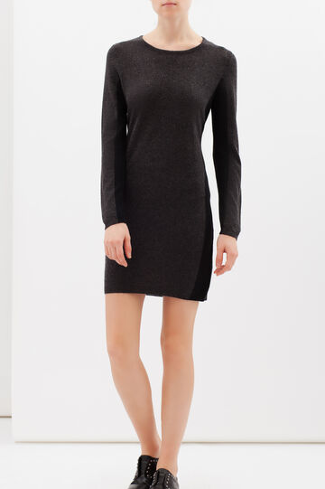 Wool blend jumper dress with long sleeves, Dark Grey, hi-res