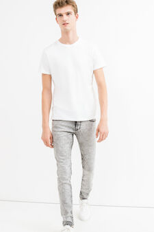 Skinny-fit, mis-dyed-effect jeans, Grey, hi-res