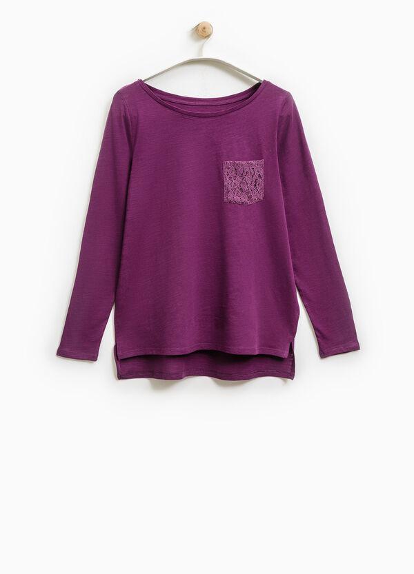Smart Basic T-shirt with lace pocket | OVS