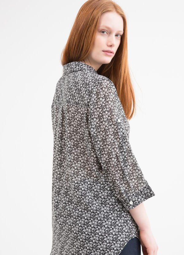 Patterned Curvy shirt | OVS