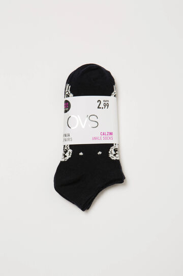 Two-pack short socks with sheep