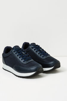 Sneakers with contrasting sole, Navy Blue, hi-res