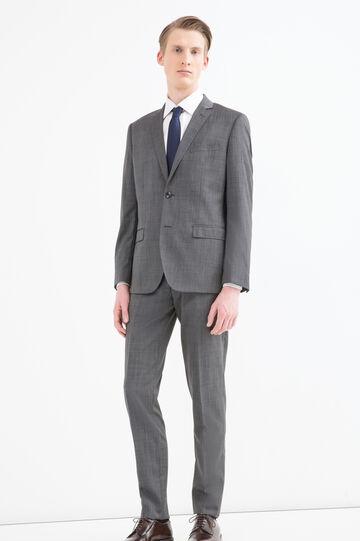 Elegant, slim-fit, pure wool suit