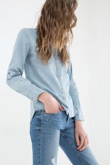 Camicia di jeans fantasia, Denim, hi-res