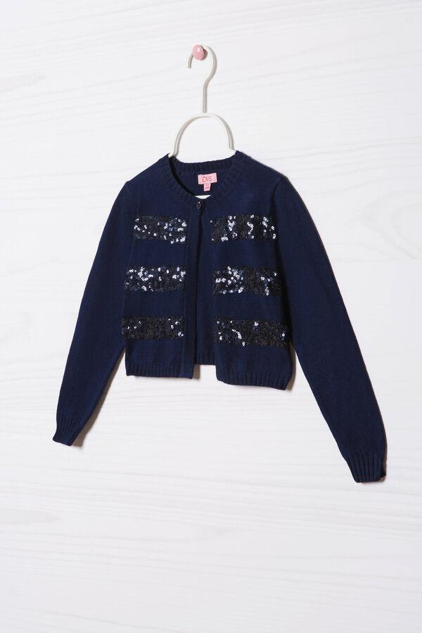 Cardigan misto cotone paillettes | OVS