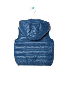 Padded waistcoat with zip, Blue/Grey, hi-res