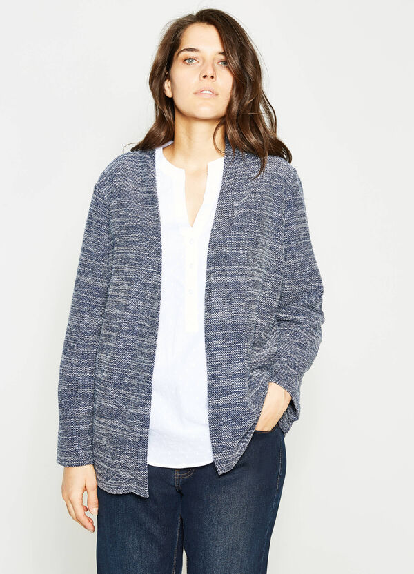 Curvy knitted mélange cardigan | OVS