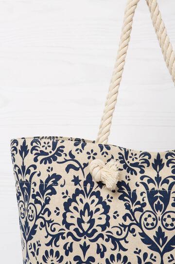 Jute bag with rope handles, Blue, hi-res