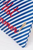 Printed bikini bag, White/Blue, hi-res