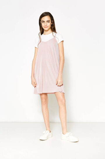 Teen pleated dress with faux layer