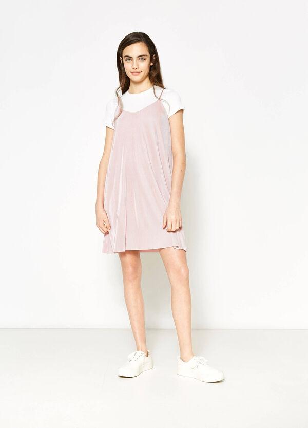 Vestito plissettato finto doppio Teen | OVS