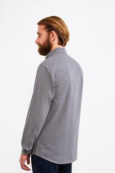 Camicia formale regular fit cotone, Beige, hi-res