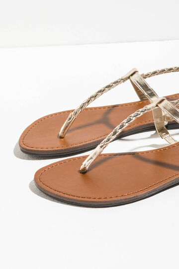 Sandals with braided bands