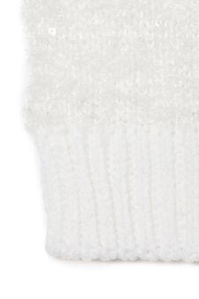 Sequinned beanie cap, White, hi-res