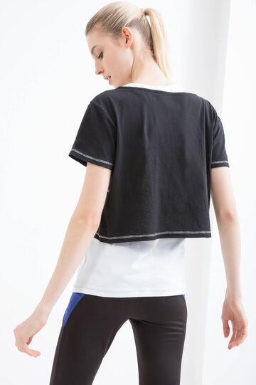 Semi-sheer gym T-shirt, White, hi-res