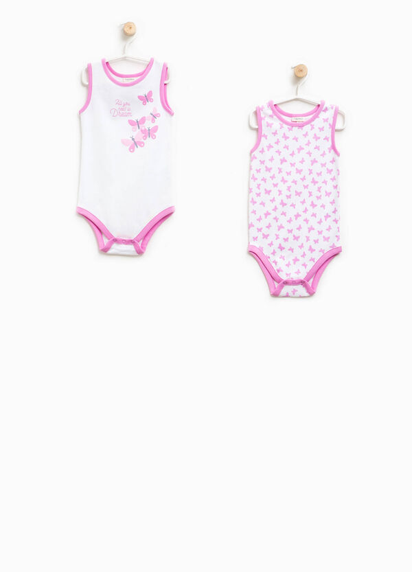 Two-pack bodysuits print and butterfly pattern | OVS