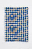 Fringed scarf with circle print, White/Blue, hi-res