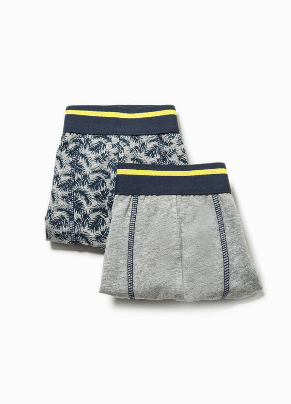 Two-pack solid colour and floral patterned boxer shorts | OVS