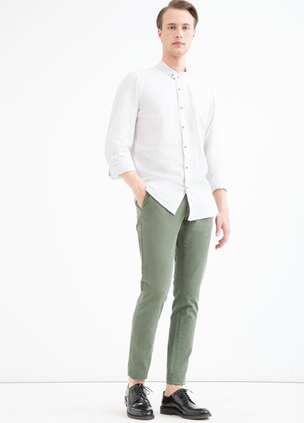 Camicia misto lino colletto coreana   OVS