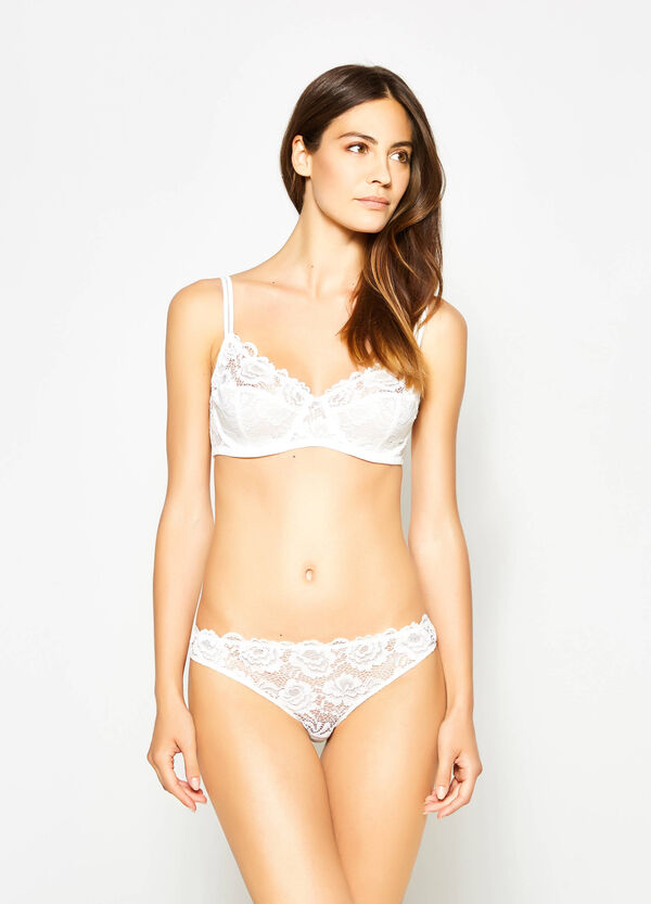 Soft lace bra with underwire | OVS
