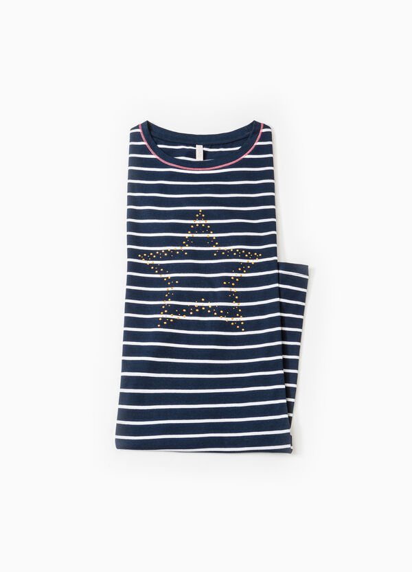Striped viscose nightshirt | OVS