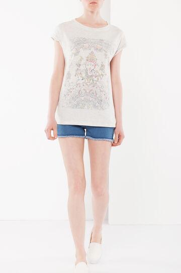 India motif T-shirt, Light Grey Marl, hi-res