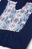 100% cotton pyjamas with drawstring, Navy Blue, hi-res