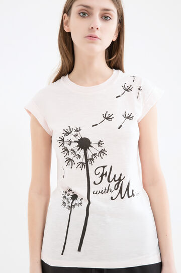 Printed T-shirt in 100% cotton, Baby Pink, hi-res