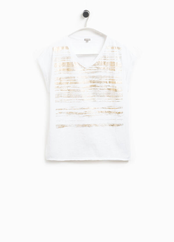 Smart Basic cotton T-shirt with raw edges | OVS
