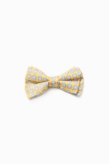 Patterned bow tie, Yellow/grey, hi-res