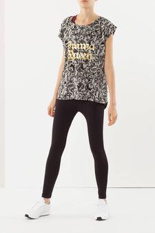 Printed T-shirt, Black/Grey, hi-res