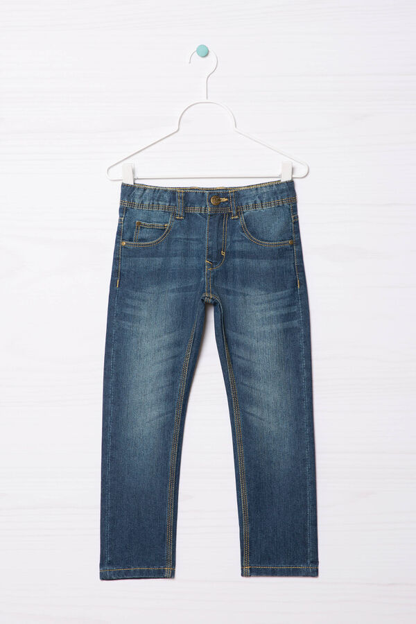 Used-effect straight fit jeans | OVS