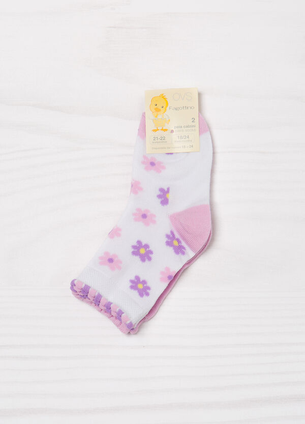 Two-pair pack cotton blend socks | OVS