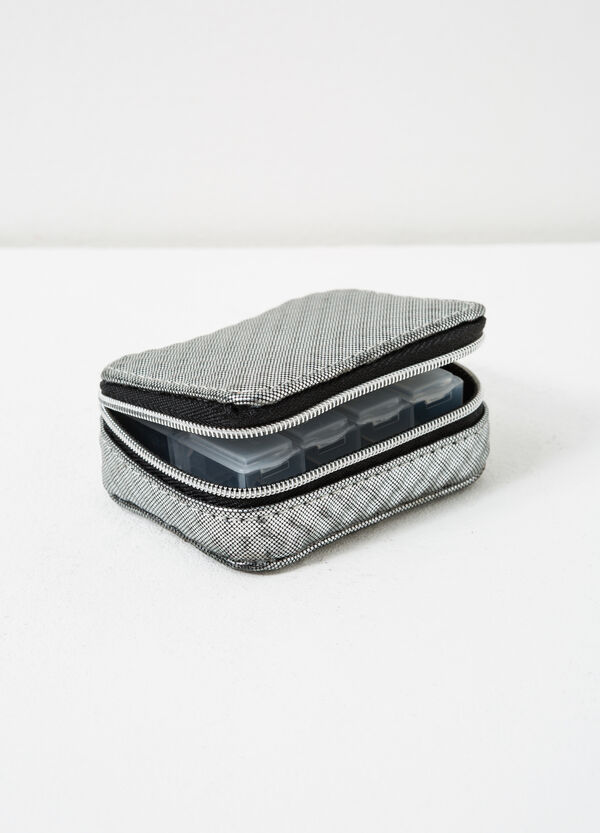 Printed pill box with zip   OVS