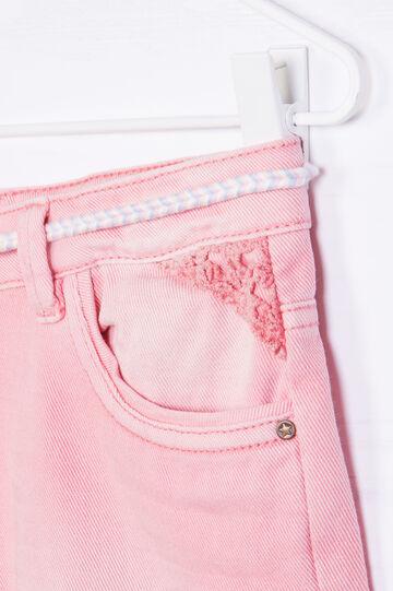 Shorts di jeans con cinturina